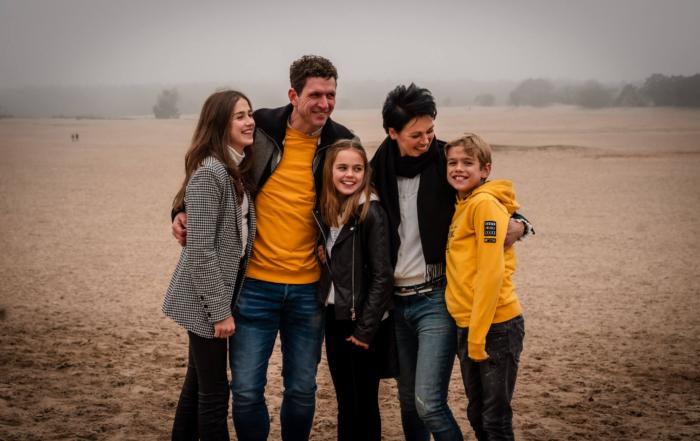 Een prachtige foto uit een gezinsreportage gefotografeerd bij de Soesterduinen